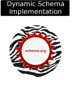 cloudy zebra dynamic schema Implementation icon