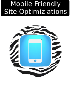 cloudy zebra mobile friendly optimization icon